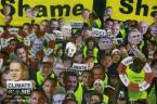 Spanduk Protes Pertemuan Iklim PBB di Kopenhagen, Denmark